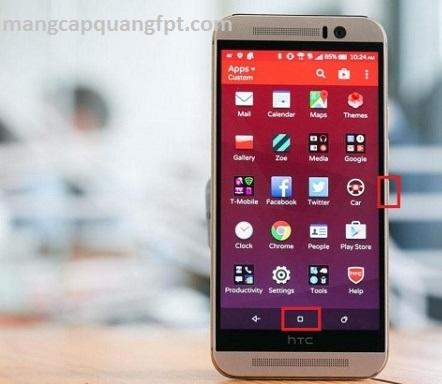 Cách chụp màn hình HTC One M9 M8 M7