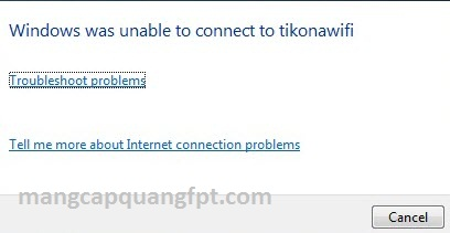 Sữa lỗi Windows was Unable to Connect to kết nối Wifi