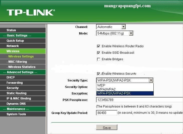 Hướng dẫn cài đặt Wireless Router Wifi Tplink TL- WR940N