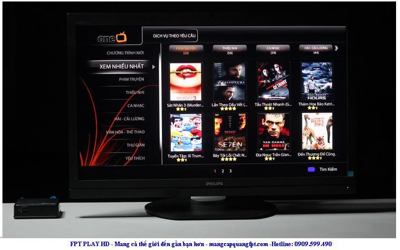 Đăng ký gói cước Internet FPT Play HD