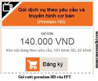 Gói dịch vụ truyền hình Premium HD