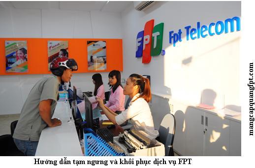 Hướng dẫn khôi phục dịch vụ và tạm ngưng dịch vụ FPT