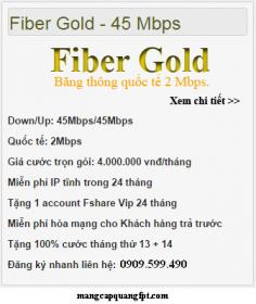 Gói Fiber Gold