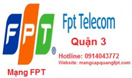 Lắp đặt mạng internet FPT quận 3 TPHCM