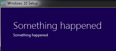 Khắc phục Lỗi Something Happened khi cài Windows 10