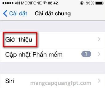 Cách kiểm tra phiên bản IOS của hệ điều hành Iphone