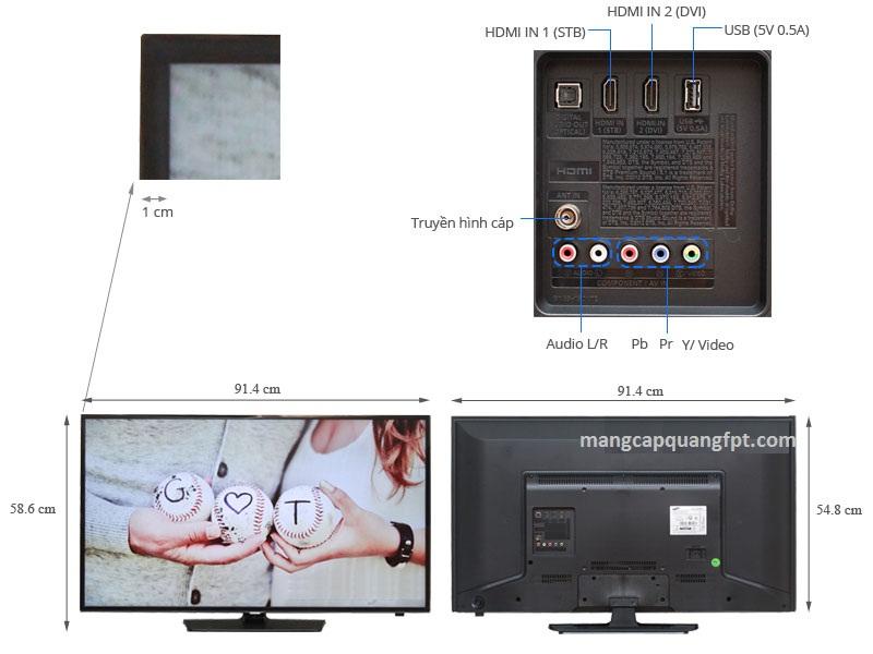 Thông số và giá bán TV LED SamSung UA40H5003AK