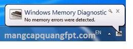Hướng dẫn check Ram trên Windows với Windows Memory Diagnostic