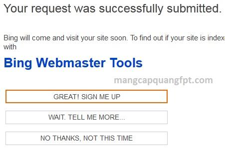 Cách đưa Website lên công cụ tìm kiếm Bing
