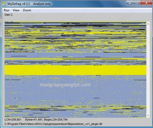 MyDefrag phần mềm chống phân mảnh ổ cứng