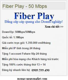 Bảng Báo Giá Cáp Quang FPT TPHCM