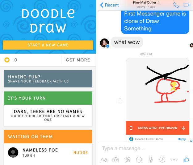 Facebook Messenger cung cấp game Doodle Draw
