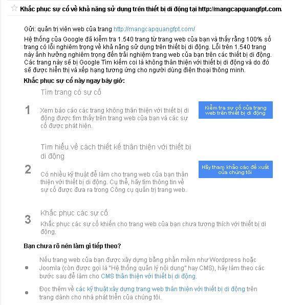 Cách kiểm tra Webiste thân thiện với di động Mobile Friendly