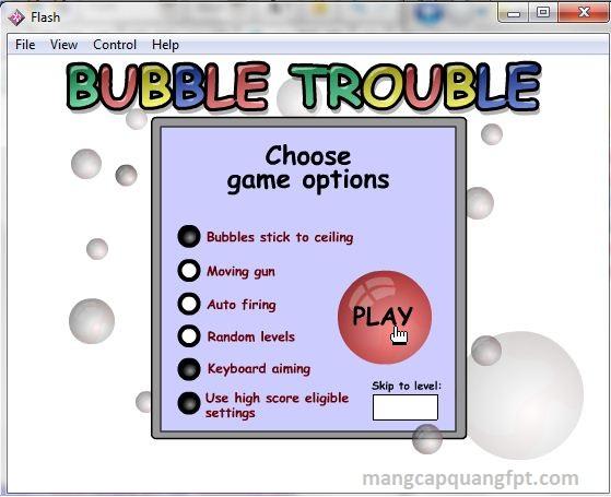 Tải game Bubble Trouble Flash PC game bắn bóng nước