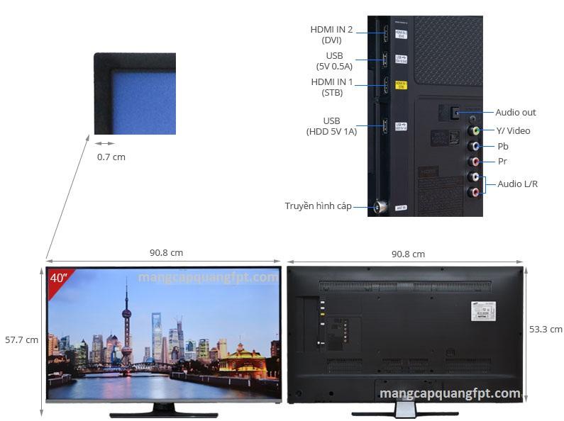 Thông số và giá bán TV LED SamSung UA40H5150