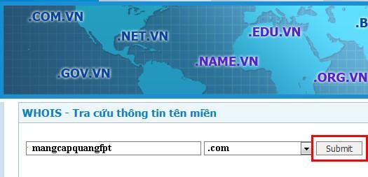 Hướng dẫn cách kiểm tra tên miền domain có ai đăng ký chưa