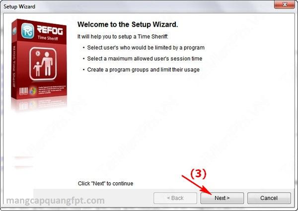 Time Sheriff Phần mềm quản lý thời gian sử dụng máy tính