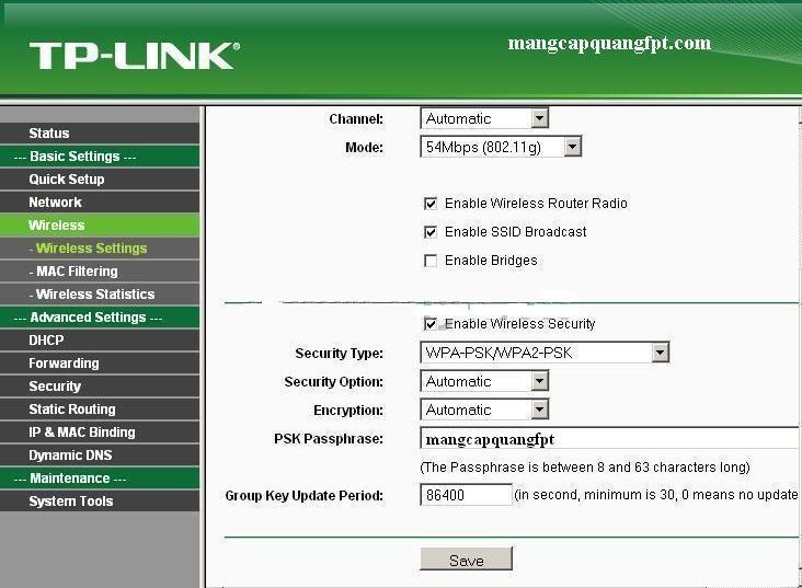 Cách đổi pass Wifi Router Wifi Tplink TL-WR340G